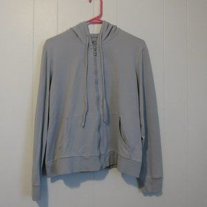 Soft Lightweight Blue/Gray Hooded Shirt Sz. L